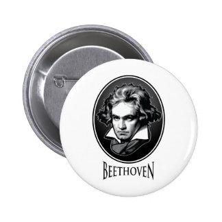 Ludwig van Beethoven Pin Redondo De 2 Pulgadas