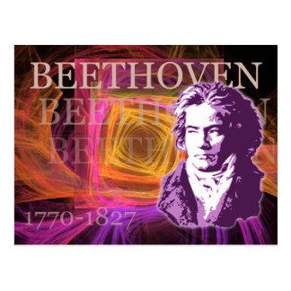 Ludwig van Beethoven Pop Art Portait Postcard