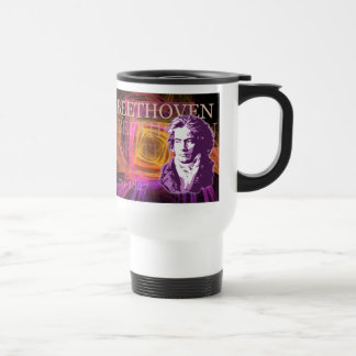 Ludwig van Beethoven Pop Art Portait Travel Mug