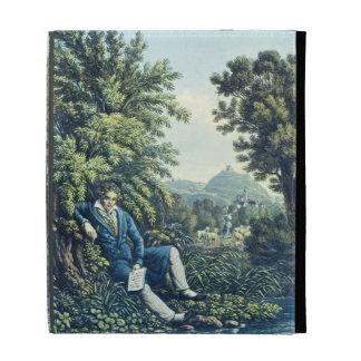 Ludwig van Beethoven por un río (engravin coloread