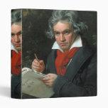 Ludwig van Beethoven Portrait 3 Ring Binder