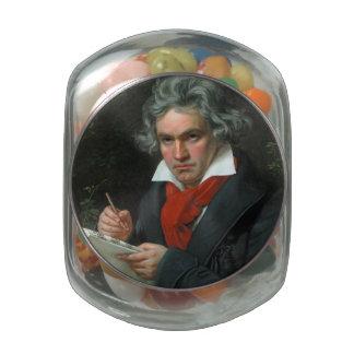 Ludwig van Beethoven Portrait Glass Jars