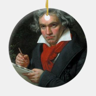 Ludwig van Beethoven Portrait Ceramic Ornament