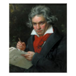 Ludwig van Beethoven Portrait Poster