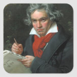 Ludwig van Beethoven Portrait Square Sticker