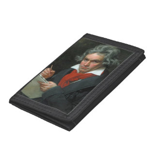 Ludwig van Beethoven Portrait Tri-fold Wallets