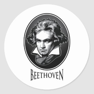 Ludwig van Beethoven Round Sticker
