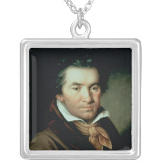 Ludwig van Beethoven Square Pendant Necklace