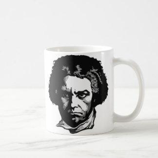 Ludwig van Beethoven Taza Básica Blanca