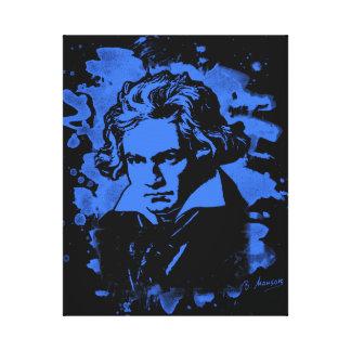Ludwig van Beethoven tributes (blue) Canvas Print
