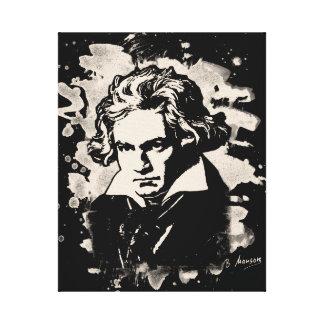 Ludwig van Beethoven tributes (white) Canvas Print