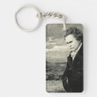 Ludwig Van Beethoven Vintage Portrait Keychain