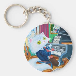 """Ludwig van Caathoven"" Basic Button Keychain"