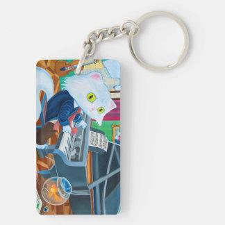 """""""Ludwig van Caathoven"""" Rectangle Keychain"""