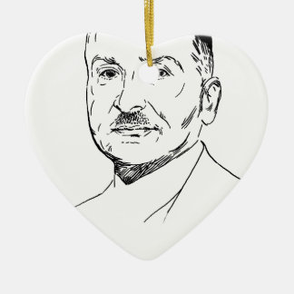 Ludwig von Mises Ceramic Ornament