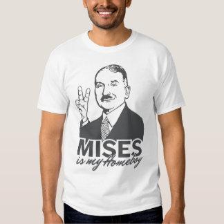 Ludwig von Mises es mi camiseta del Homeboy Playeras