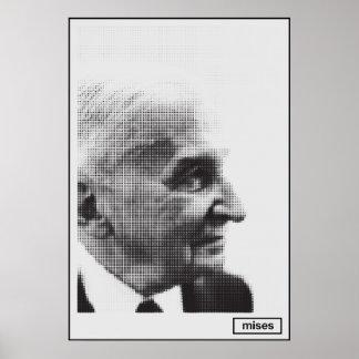 Ludwig von Mises Halftone Print
