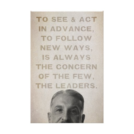 Ludwig von Mises Leaders Stretched Canvas Print