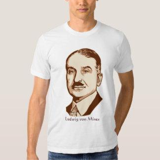Ludwig von Mises personalizó la camiseta de la Polera