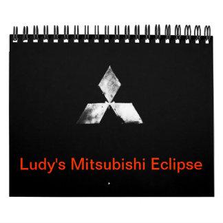 Ludy's Mitsubishi Eclipse Calender Wall Calendar