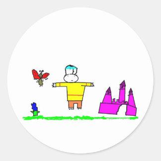 Lue and Iogo Classic Round Sticker