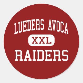 Lueders Avoca - Raiders - High - Avoca Texas Sticker