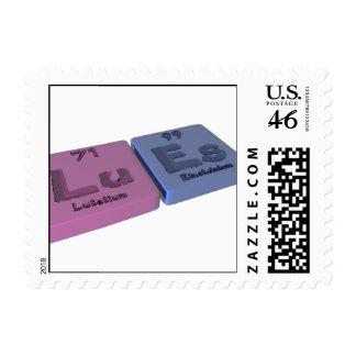 Lues as Lu Lutetium and Es Einsteinium Postage