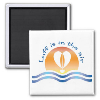 Luffers Sunset_blue type Luff is in the air 2 Inch Square Magnet