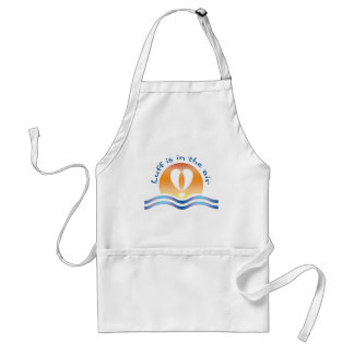 Luffers Sunset_blue type Luff is in the air Adult Apron