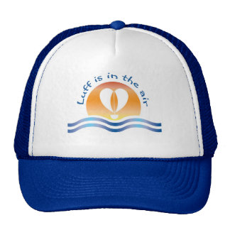 Luffers Sunset_blue type Luff is in the air Trucker Hat