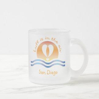 Luffers Sunset_Luff está en el aire San Diego Taza Cristal Mate