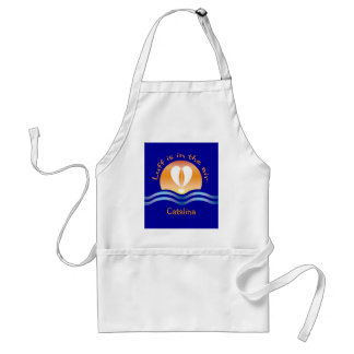 Luffers Sunset_Luff is in the air Catalina Adult Apron
