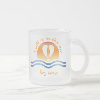 Luffers Sunset_Luff is in the air Key West Frosted Glass Coffee Mug