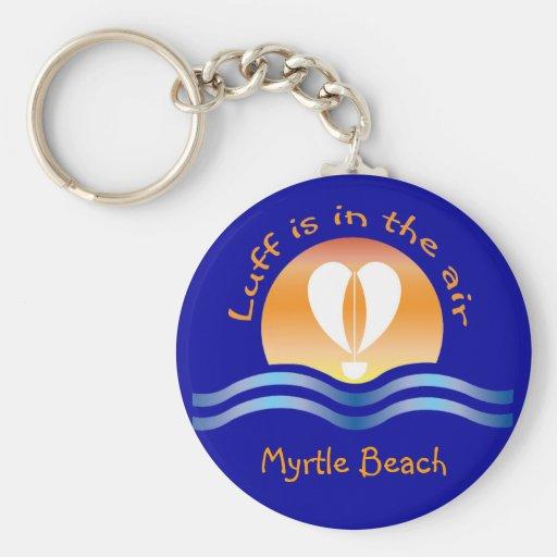 Luffers Sunset_Luff is in the air Myrtle Beach Basic Round Button Keychain
