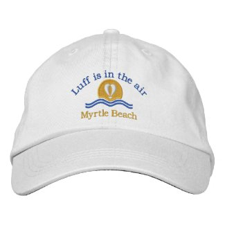 Luffers Sunset_Luff is in the air Myrtle Beach embroideredhat