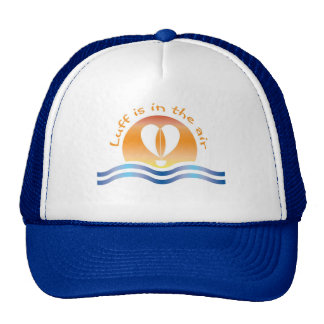 Luffers Sunset_orange type Luff is in the air Trucker Hat