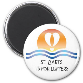 Luffers Sunset_St. Barts 2 Inch Round Magnet