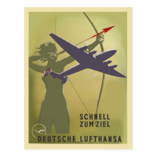 Lufthansa 1937 postcard