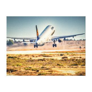 Lufthansa takeoff canvas print