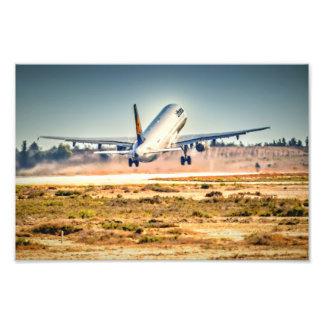 Lufthansa takeoff photo print