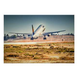 Lufthansa takeoff poster
