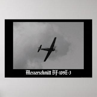Luftwaffe Bf-109 E-3 Póster