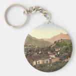 Lugano, Bellinzona, Tessin, Switzerland vintage Ph Key Chain