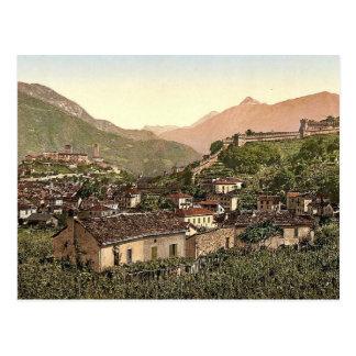 Lugano, Bellinzona, Tessin, Switzerland vintage Ph Postcard
