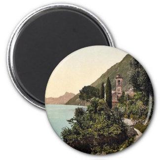 Lugano, Oria, Tessin, Switzerland vintage Photochr 2 Inch Round Magnet