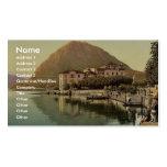 Lugano, the quay, and San Salvatore, Tessin, Switz Business Card Template