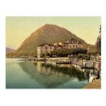Lugano, the quay, and San Salvatore, Tessin, Switz Post Cards