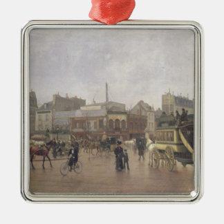 Lugar Clichy, París, 1896 del La Adorno Navideño Cuadrado De Metal