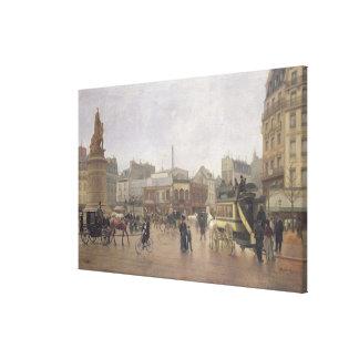 Lugar Clichy, París, 1896 del La Impresión En Lienzo