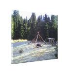 Lugar de descanso del bosque impresiones de lienzo